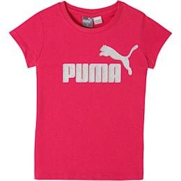 Camiseta de jersey de algodón con logo para niños, FUSCHIA PURPLE, pequeño