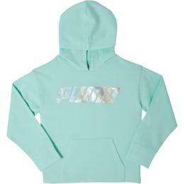 Girls' Fleece Pullover Hoodie JR, FAIR AQUA, small