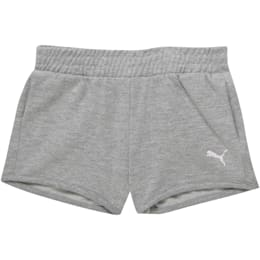 Little Kids' French Terry Shorts, LIGHT HEATHER GREY, small