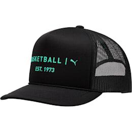 Core Mesh Trucker Hat, BLACK/GREEN, small