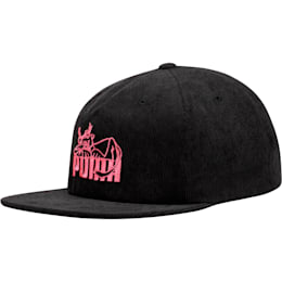 Core Super PUMA Flat Brim Hat, BLACK / PINK, small