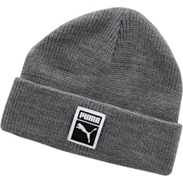Ribbed Beanie, Heather, small