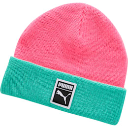 Ribbed Beanie, Pink / Green, small