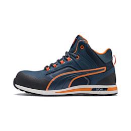 Safety Shoe Crosstwist Mid S3 HRO SRC, blau/orange, small