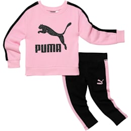 Infant + Toddler Pullover + Leggings Set, PALE PINK, small
