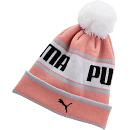 PUMA EVERCAT Girls' Warmup Beanie, PINK / GREY, small