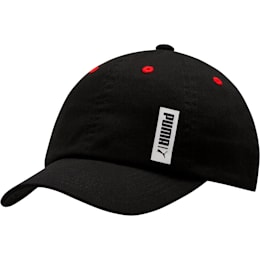 Evercat Chill Boys' Cap, BLACK/RED, small