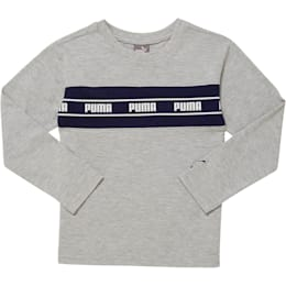 Amplified Pack Pieced Little Kids' Long Sleeve Tee, LT HEATHER GREY, small