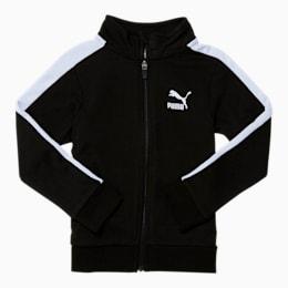 Little Kids' T7 Track Jacket, PUMA BLACK/WHITE, small