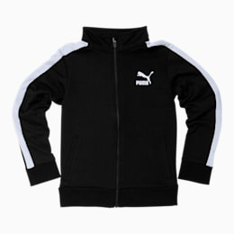 Boys' T7 Track Jacket JR, PUMA BLACK/WHITE, small