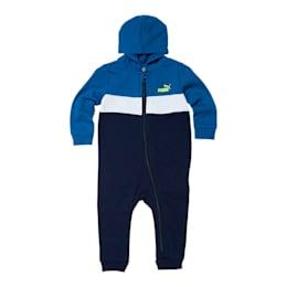 Colorblocked Fleece Infant Zip Up Hoodie Coverall