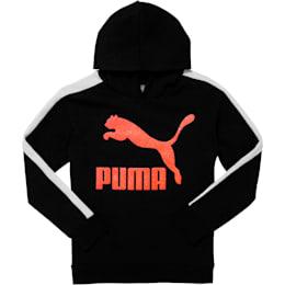 Classics Pack Girls' Archive Logo Fleece Hoodie JR, PUMA BLACK, small
