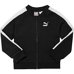 Toddler T7 Track Jacket, PUMA BLACK, small