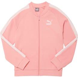 Girls' T7 Track Jacket JR, BRIDAL ROSE, small