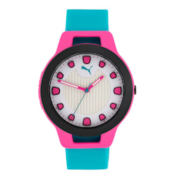 Reset Silicone V1 Women's Watch, Pink/Blue, small-IND
