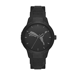 メンズ リセット ポリウレタン V2  時計, Black/Black, small-JPN