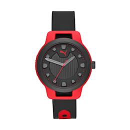 メンズ リセット シリコン V1  時計, Red/Black, small-JPN
