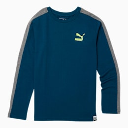 Luxe Pack Boys' T7 Long Sleeve Tee JR, GIBRALTAR SEA, small