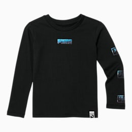 Holiday Pack Toddler Long Sleeve Graphic Tee, PUMA BLACK, small