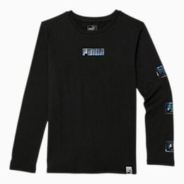 Holiday Pack Boys' Long Sleeve Graphic Tee JR, PUMA BLACK, small