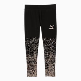 Classics Little Kids' Glitter Gradient Leggings, PUMA BLACK, small