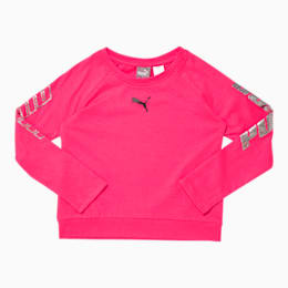 Modern Sports Little Kids' Long Sleeve Fashion Tee, NRGY ROSE, small
