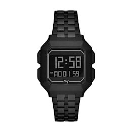 Remix Black Stainless Steel Digital Watch