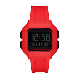 REMIX Unisex Digital Watch, Red/Red, small