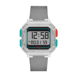 Reloj digital de nylon gris Remix