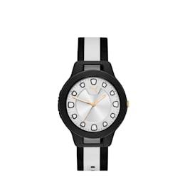 RESET V1 Damen Uhr im Wendedesign mit Webarmband