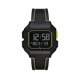 Montre-bracelet numérique REMIX Unisex, Black/Yellow, small