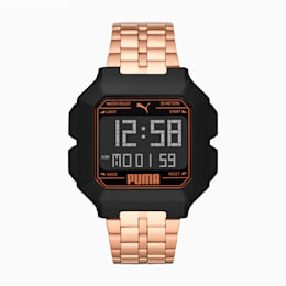 REMIX Unisex Uhr aus Edelstahl, Rose Gold/Black, small