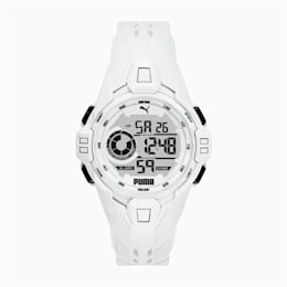 Bold White Digital Watch
