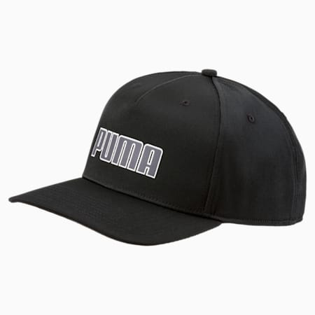 Golf Go Time Flex Snapback Hat, Puma Black, small-SEA