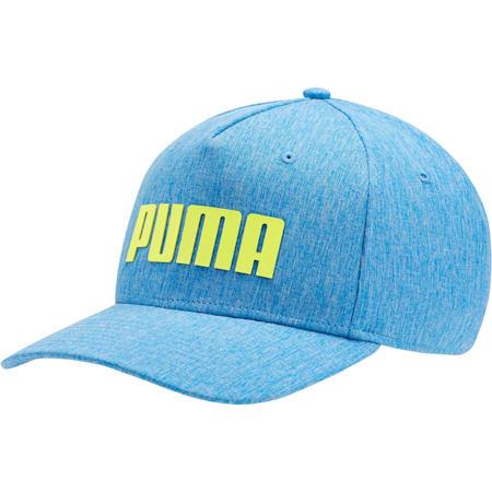 Golf Go Time Flex Snapback Hat, Electric Blue Lemonade, small-SEA