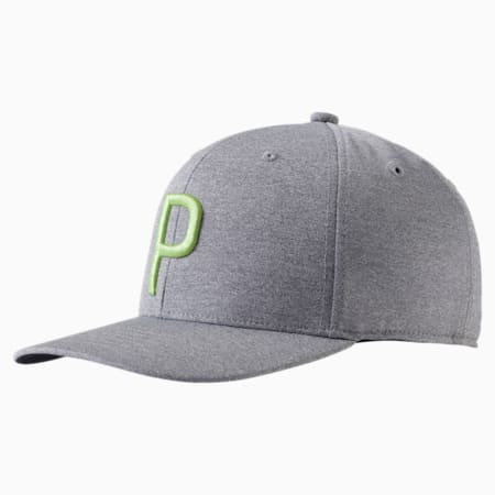 P Snapback Hat, Quarry Heather, small