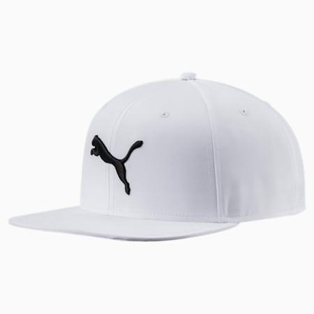 Flatbrim Cap, Puma White-black cat logo, small-SEA