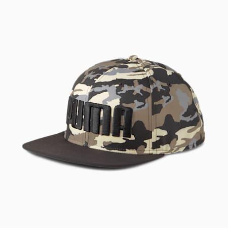 Cappellino con visiera piatta, Puma Black-Pebble-AOP, small