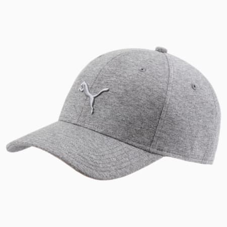 Stretchfit Baseball Cat Cap, Medium Gray Heather, small