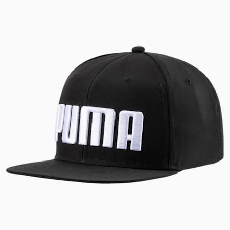 キッズ プーマ フラットブリム キャップ JR, Puma Black, small-JPN