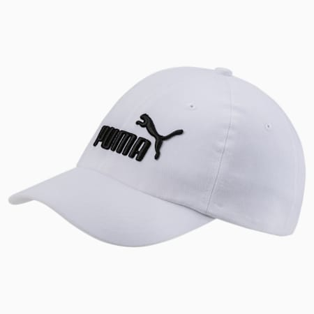 Essentials Kinder Gewebte Cap, Puma White-No,1, small