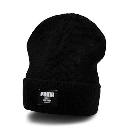 Gorro de lana clásico acanalado, Puma Black, pequeño