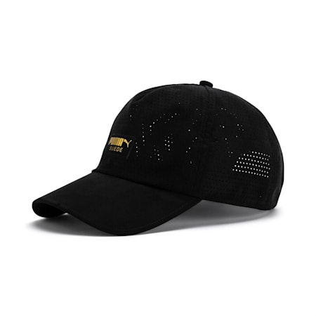 Suede Baseball Cap, Puma Black, small-SEA