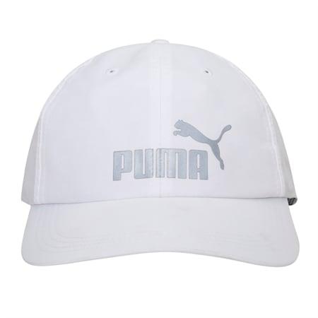 Running Essential Cap, Puma White-N1 logo, small-SEA