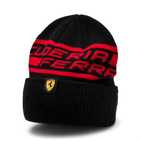 Scuderia Ferrari  Unisex Fanwear Beanie, Puma Black, small-IND