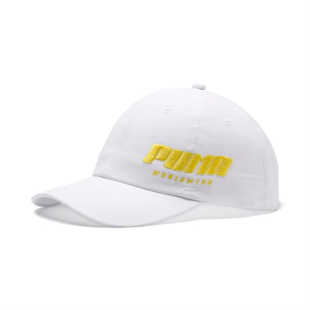 Women's Trailblazer Cap, Puma White-Blazing Yellow, small-SEA