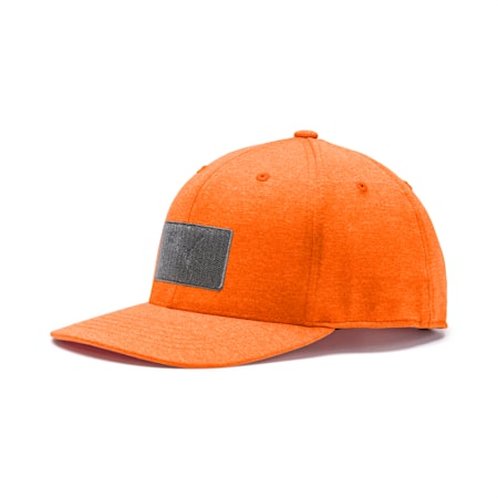 Utility Patch 110 Men's Golf Cap, Vibrant Orange, small