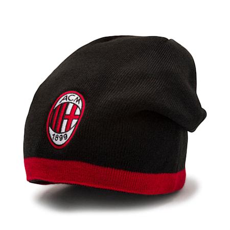 AC Milan Reversible Beanie, Tango Red-Puma Black, small
