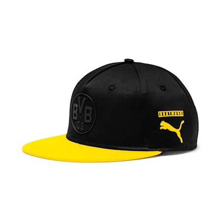 BVB flatbrim Fan Cap, Puma Black-Cyber Yellow, small