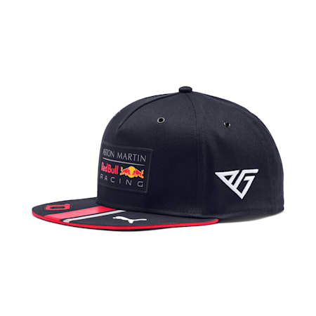 Red Bull Racing Replica Gasly Flat Brim Cap, NIGHT SKY-Chinese Red, small